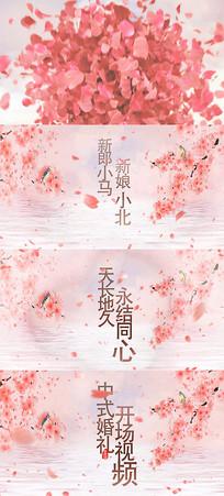 中国风浪漫新中式婚礼开场片头AE模板