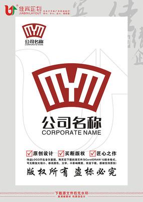 YM竹简书本游学教育LOGO设计