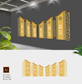 简约中式企业文化墙中式形象墙