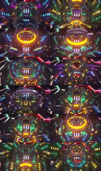 VJ酒吧夜店开场舞机械舞背景视频素材