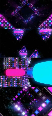动感炫彩时尚LED背景视频AE模板