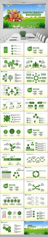 绿色健康有机蔬菜大棚蔬菜种植蔬菜PPT