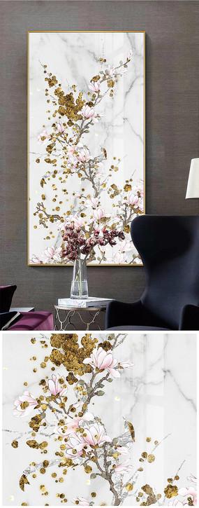 新中式工笔花鸟晶瓷画客厅装饰画
