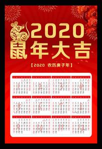 2020鼠年挂历设计