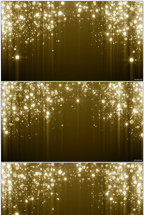 闪烁金色粒子幕帘舞台背景视频素材