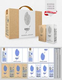 简约富硒大米礼盒包装设计