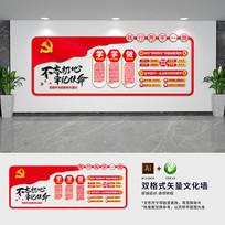 两学一做宣传文化墙设计