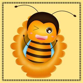 原创可爱的蜜蜂卡通表情