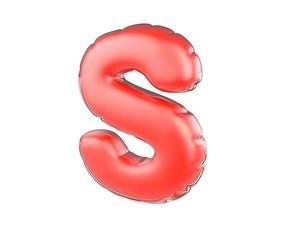 原创元素圣诞节促销气球字母S