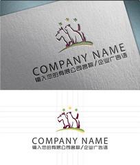 宠物店猫狗LOGO标志设计