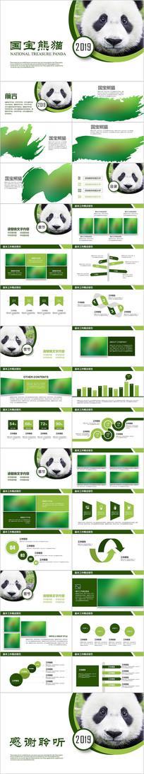 保护动物国宝熊猫ppt模版