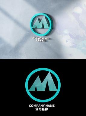 大气M字母logo设计