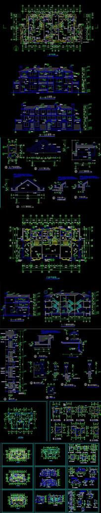 联排别墅CAD施工图
