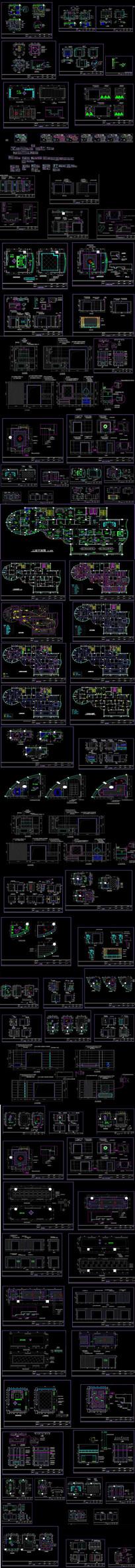 某豪华陶瓷展厅室内装修CAD施工图