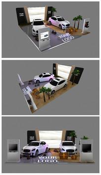原创商场车展展台效果图模型