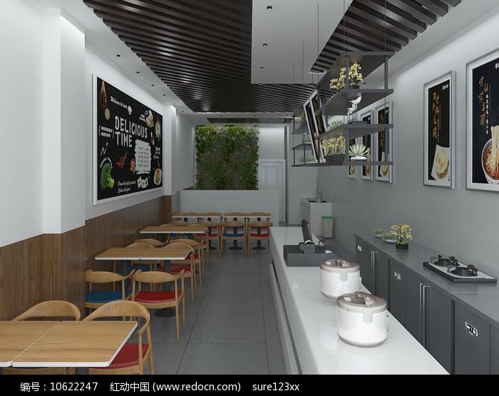 早餐店3Dmax模型图片