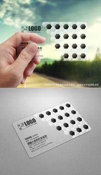创意足球运动用品透明名片设计