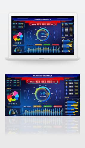 大数据综合管理可视化大屏 PSD