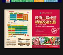 农贸市场公开销售宣传单页