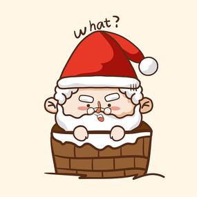 爬烟囱的圣诞老人图片
