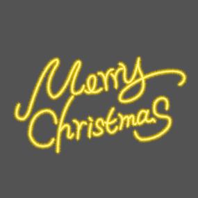 圣诞快乐艺术字体