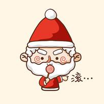 圣诞老人矢量卡通图片