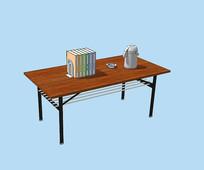 书桌办公桌三维模型