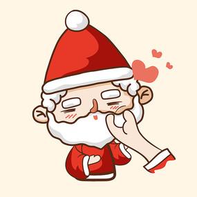 圣诞老人表情图片
