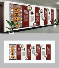 传统中医文化精气神中医院文化墙