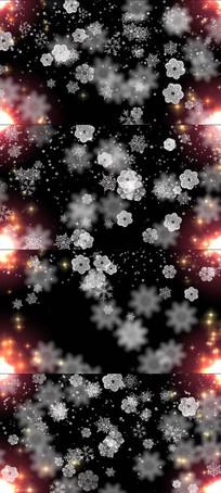 粒子雪花飘落LED舞台视频素材