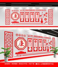 中国风党建室廉政文化墙