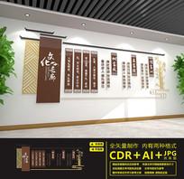 传统校园长廊文化墙设计
