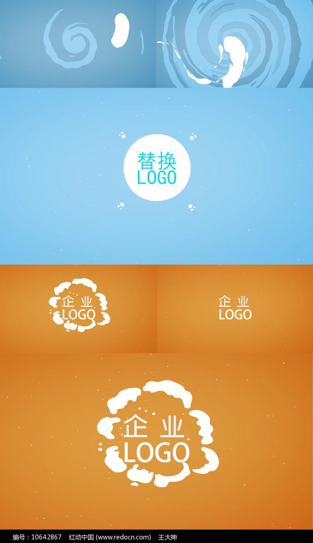 卡通流体企业LOGO演绎PR模板图片