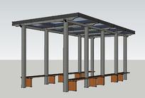 玻璃顶走廊廊架