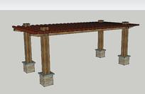 木架结构廊架