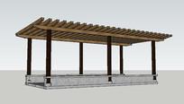 木架结构新中廊架
