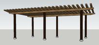 木质简约廊架