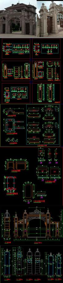 欧式大门门头CAD图库