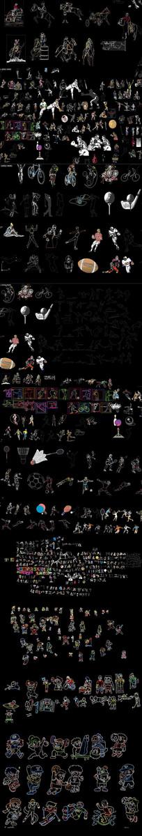 体育人物CAD图库