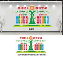 校园教育文化墙设计
