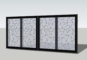 新中式玻璃屏风