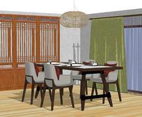 新中式餐厅简约软装