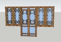 新中式联排窗门