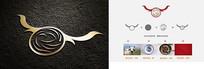 高端极简餐饮logo设计矢