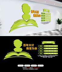 师德师风校园文化墙学校教室走廊布置