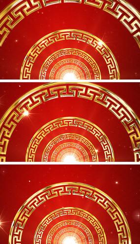 中国风图腾元旦春晚舞蹈背景视频素材