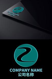 字母Z创意小溪LOGO设计