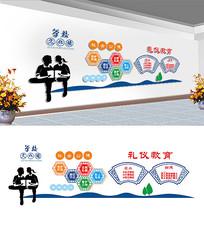 礼仪文化宣传展板设计