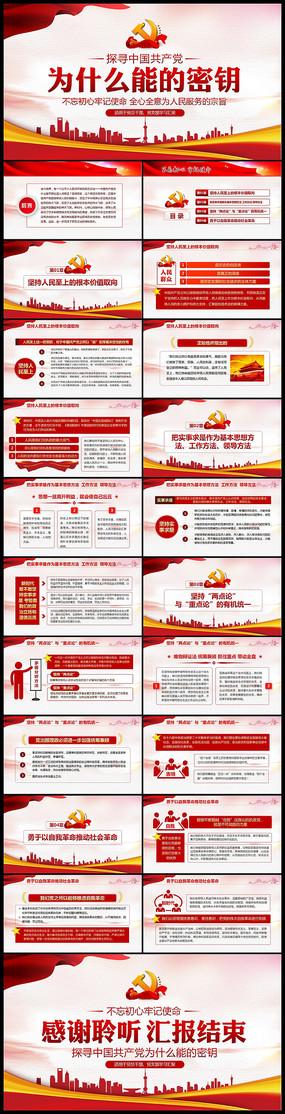 中国共产党为什么能的密钥做合格党员PPT