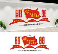 不忘初心党建文化墙宣传标语